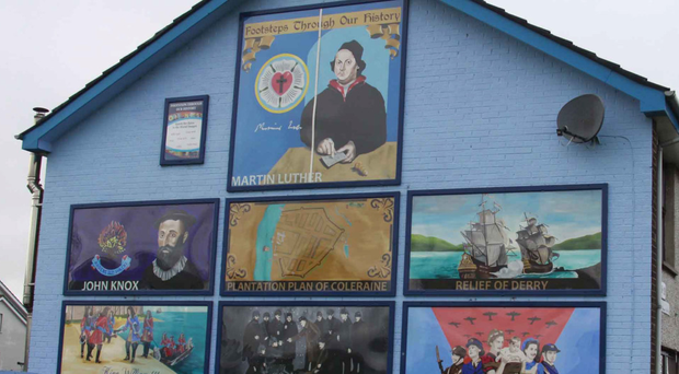 Fresh image: new paintings in Ballysally have replaced a loyalist mural
