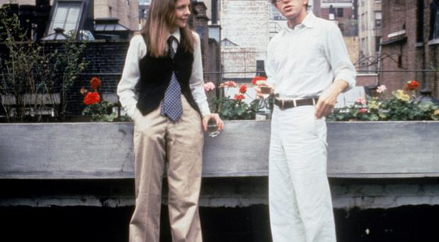 American parlance: Diane Keaton and Woody Allen on a 'date' in the film Annie Hall
