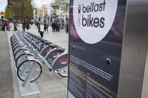 Healthcare staff are being encouraged to get on their bikes with free on-road cycle training ahead of the launch of new Belfast Bike stations this spring