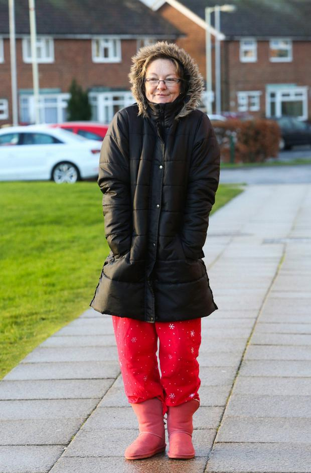 Sleep walking: mums often step out to school in morning wear