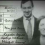 Wedding bells: George and Winifred and their marriage license