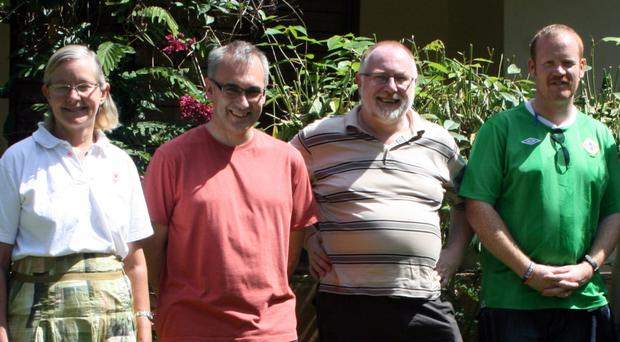 Team work: from left, Dr Alison Love, Dr Roy Harper, Trevor Anderson and Mark Kennaway
