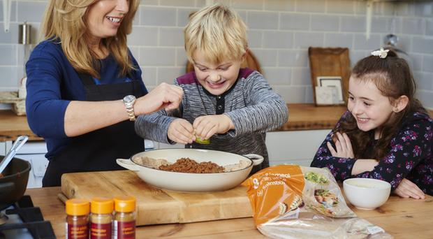 Healthier eating: Alex Hollywood encouraging children to prepare food