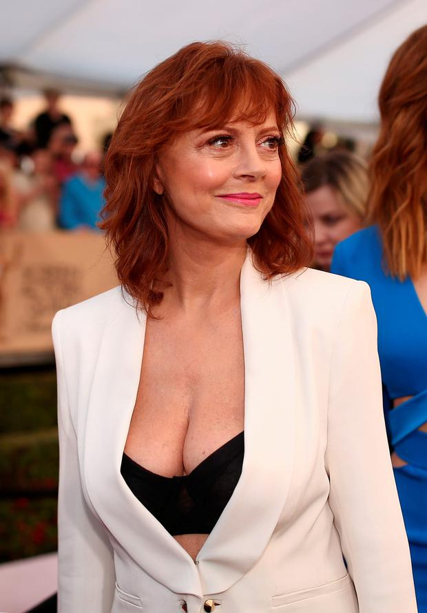 Some front: Susan Sarandon in her revealing outfit