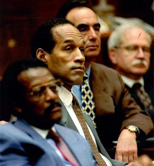 Real life: OJ Simpson in the courtroom