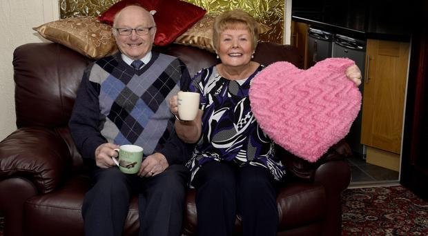 Loved up: Edith and William Gilmore