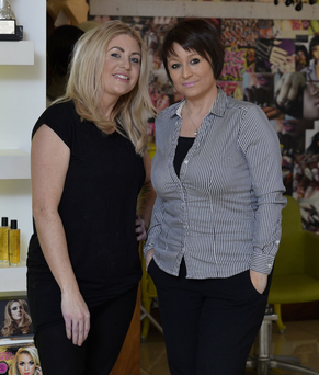 Firm friends: wig specialist Keris Weir (left) with Karen Herbert , who is recovering from cancer
