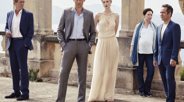 Laurie, Hiddleston, Debicki, Colman and Hollander star in The Night Manager