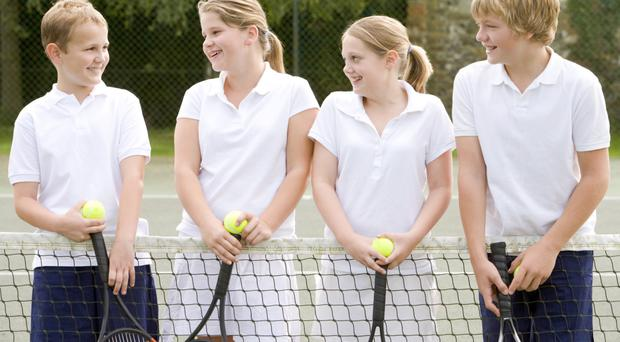 Net gains: youngsters learning the game