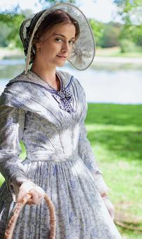Hat's nice: Stefanie Martini as Mary Thorne in Doctor Thorne
