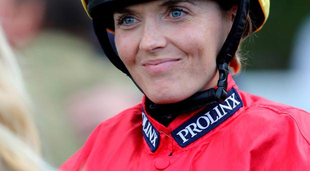 Dramatic switch: Victoria Pendleton on the racecourse
