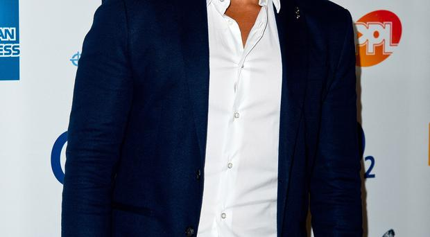 Watchful eye: Peter Andre