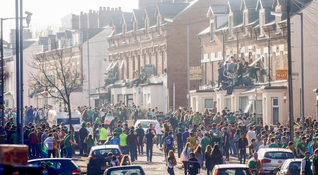 Teenage rampage: Belfast's Holylands area on St Patrick's Day