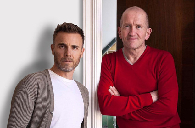 Kindred spirits: Gary Barlow and Eddie 'The Eagle' Edwards