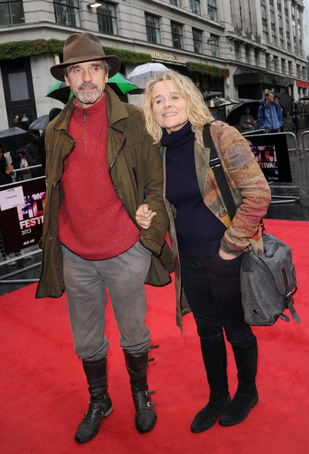 Jeremy Irons with wife Sinead Cusack