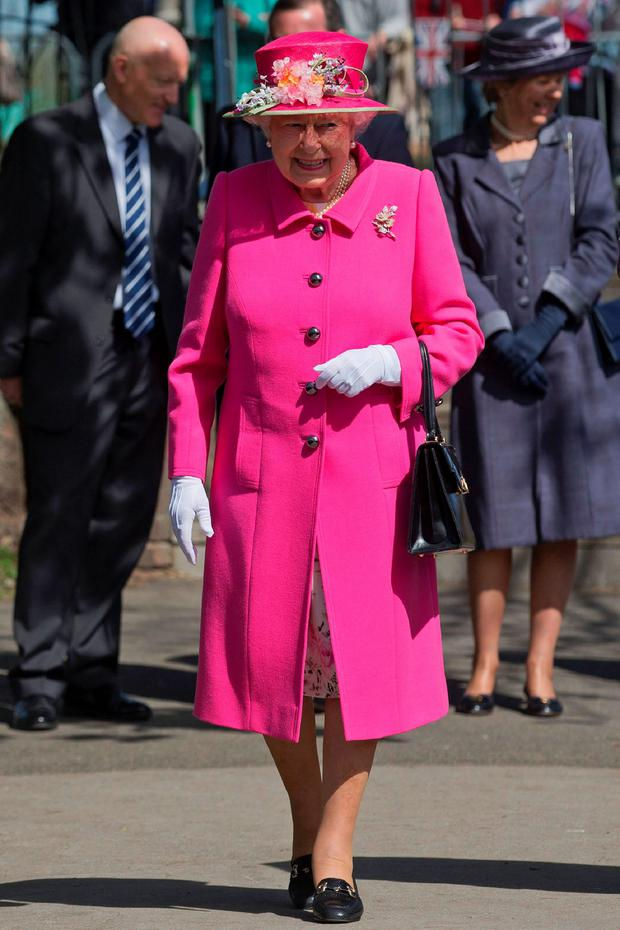 Public adoration: the Queen out and about yesterday ahead of her big day