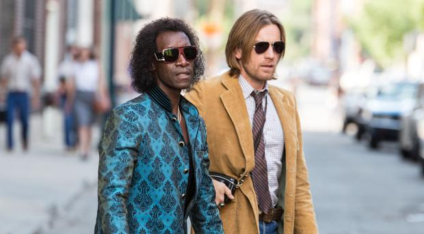 Don Cheadle as Miles Davis with Ewan McGregor in Miles Ahead