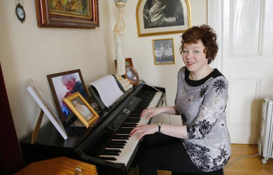 In tune: Eve Williams playing the piano