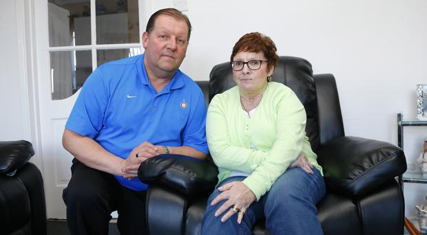 Staying strong: Elizabeth Erskin with her husband Jim