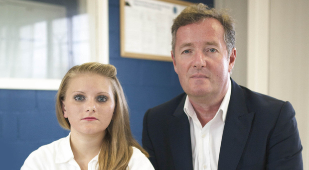 Piers Morgan and Erin Caffey