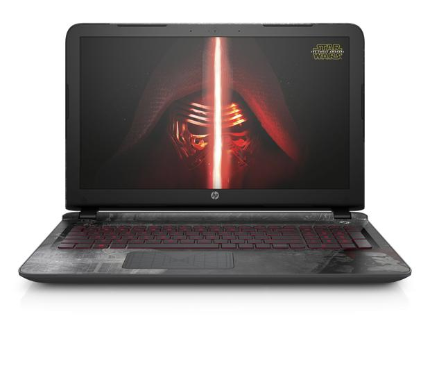 HP 15.6 Special Edition Star Wars Laptop with Windows 10 6GB RAM & 1TB HDD, available from qvcuk.com.
