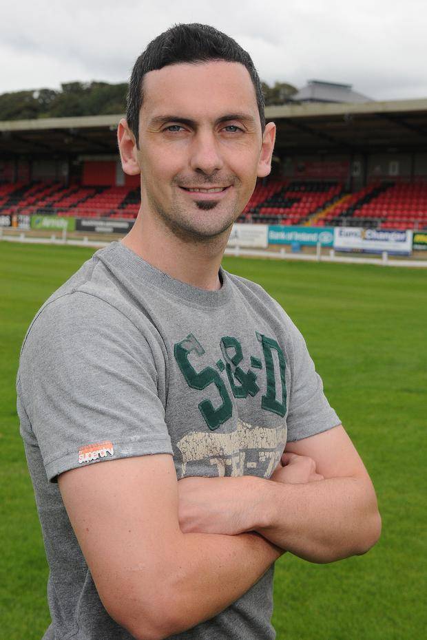 Mark Farren at the Brandywell in Derry