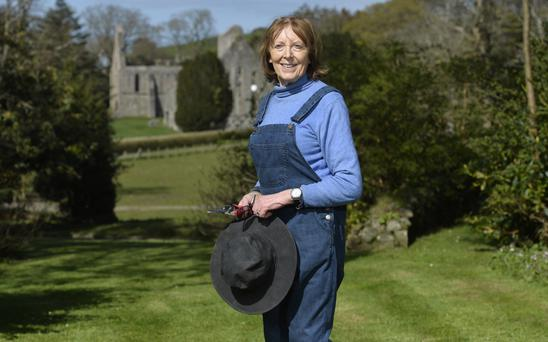 Perfect pastures: Daphne Montgomery at her home, Greyabbey House, in Co Down