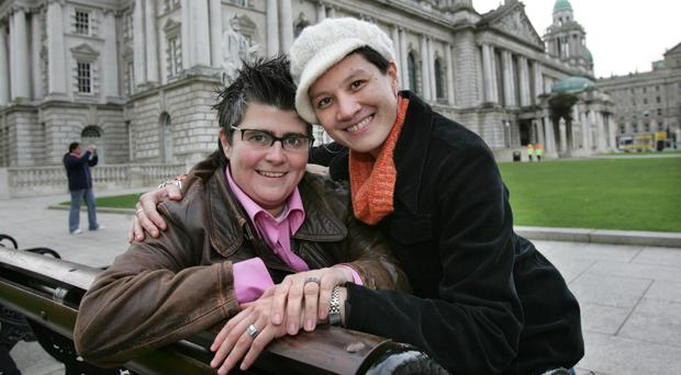 Perfect partners: Grainne Close (left) and Shannon