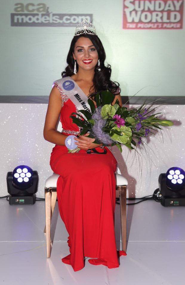 Winning way: Emma is crowned Miss Northern Ireland 2016