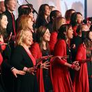On song: the Belfast Community Gospel Choir in full voice