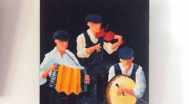 Michael Boyle is a local artist who paints a wide variety of subjects, from landscape and pubs, to farmyards, dancers and musicians