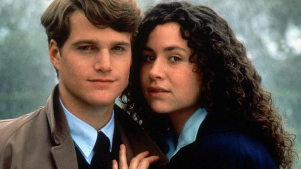 Close ties: Chris O'Donnell and Minnie Driver starred in the film Circle of Friends based on Maeve Binchy's book on friendship between two school friends in Fifties Ireland
