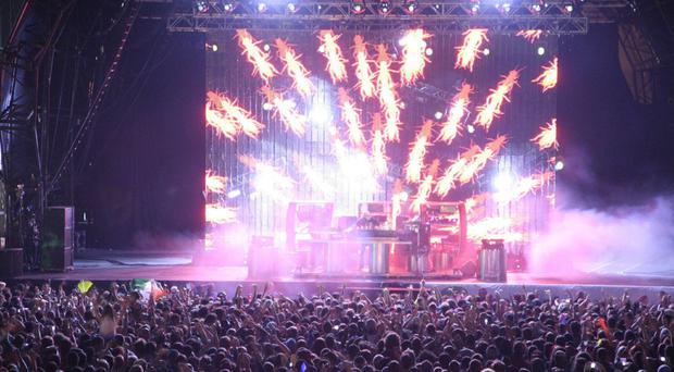 The Chemical Brothers live on stage