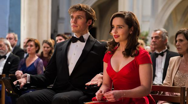 Sam Claflin and Emilia Clarke in Me Before You