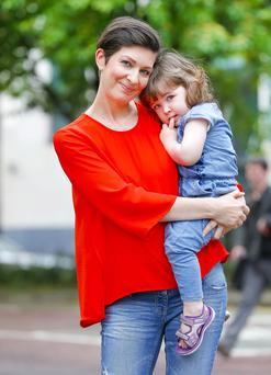 Close-knit: Julie with her daughter Nora