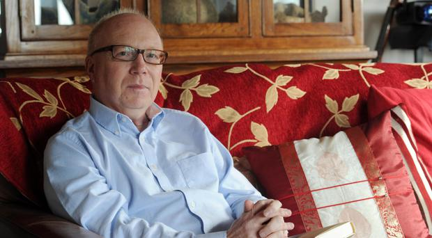 Belfast-born author David Park at home