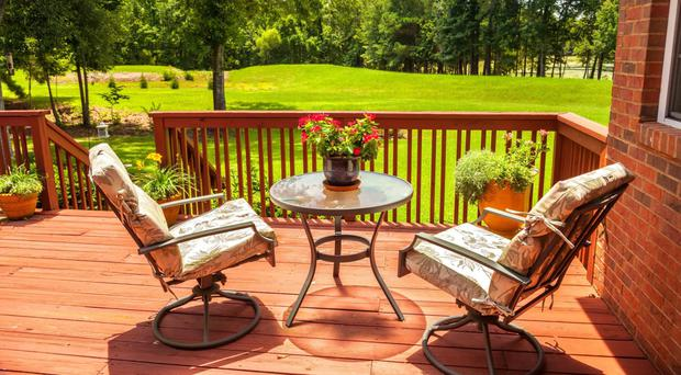 Cool views: relax on your decking