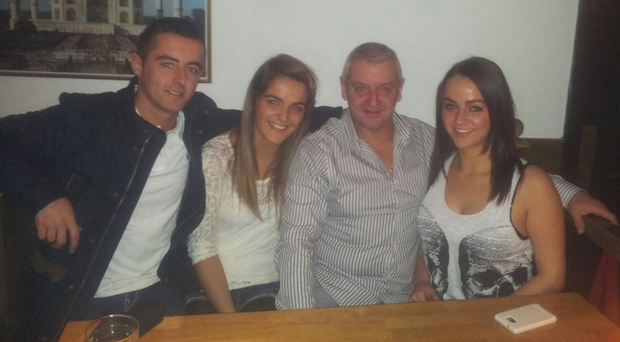 Patrick McDonnell with his children