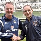 United effort: Northern Ireland manager Michael O'Neill and Republic of Ireland boss Martin O'Neill are both backing Men's Health Week