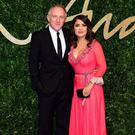 Power couple: Salma with her husband Francois-Henri Pinault