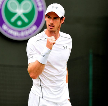 Born winner: Andy Murray will be one of the favourites at Wimbledon