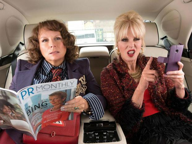 Back together: Jennifer Saunders and Joanna Lumley as Eddy and Patsy in Absolutely Fabulous: The Movie