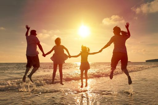 Beach fun: keeping youngsters occupied is the best way to ensure a great trip for all the family