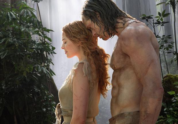Skarsgard in his new movie The Legend of Tarzan with Margot Robbie