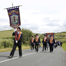 Orangemen in Rossnowlagh, Co Donegal, at the weekend ahead of today's main Twelfth celebrations