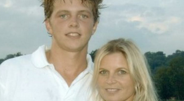 Sad end: James Wentworth-Stanley, who took his own life at the age of 21, with his mother Clare Milford Haven