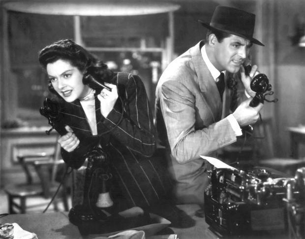 Movie magic: Cary Grant with Rosalind Russell in His Girl Friday