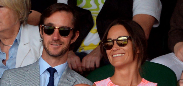 Two's company: Pippa Middleton and James Matthews