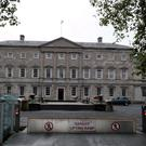 The exterior of Leinster House in Dublin, home to the Dail