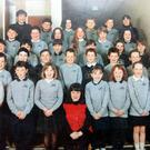 Top class: Radio presenter Vinny Hurrell's St Michael's Primary School class photograph, with him and favourite teacher Mrs McErlean.